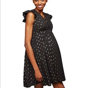 A Pea in the Pod Dresses - A Pea in the Pod Black Babydoll Maternity Dress SM